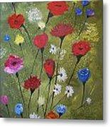 Floral Fields Metal Print