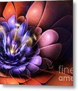 Floral Flame Metal Print