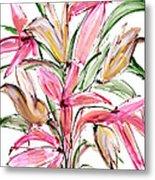 Floral Fourteen Metal Print