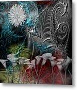 Floral Fractal Metal Print
