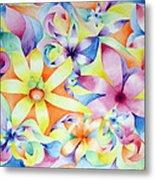 Floral Fractal Metal Print by Linda Pope