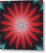 Floral Geometric 102311a Metal Print