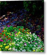 Floral Path Metal Print