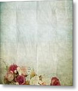 Floral Pattern On Old Paper Metal Print
