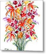 Floral Six Metal Print