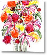 Floral Thirteen Metal Print