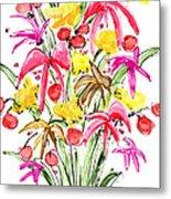 Floral Twelve Metal Print