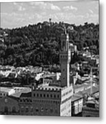 Florence - Black And White Metal Print