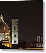Florence Skyline At Night Metal Print by Chris Hill