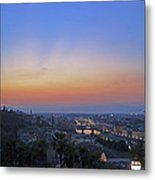 Florence Sunset Metal Print