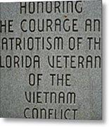 Florida Vietnam War Memorial Metal Print