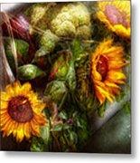 Flower - Sunflower - Gardeners Toolbox  Metal Print