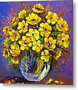 Flower Are Yellow Metal Print
