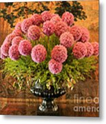 Flower Arrangement Chateau Chenonceau Metal Print