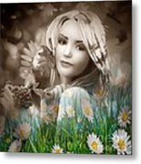 Flower Arround Me Metal Print