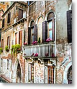 Flower Balcony Metal Print