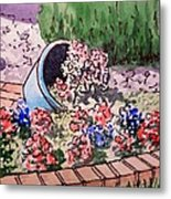 Flower Bed Sketchbook Project Down My Street Metal Print