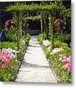 Flower Garden - Digital Painting Metal Print