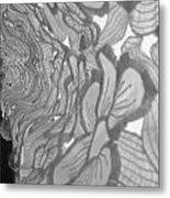 Flower Lace Metal Print