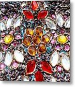 Flower Of Beads Metal Print