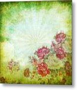 Flower Pattern On Paper Metal Print by Setsiri Silapasuwanchai