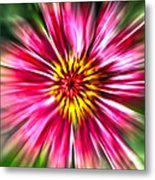 Flower Pin Wheel Metal Print
