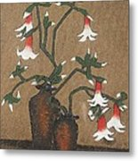 Flower Pot Metal Print by Rejeena Niaz