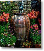 Flower Potts Metal Print