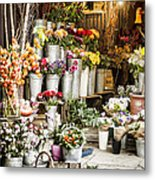 Flower Shop Metal Print