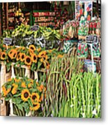 Flower Shop In Amsterdam Metal Print