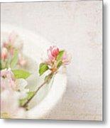 Flowering Crabapple In Bowl Metal Print