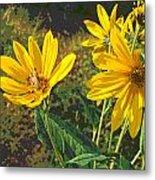 Flowers And Hopper Metal Print