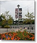 Flowers At Citi Field Metal Print by Rob Hans
