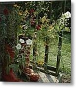 Flowers Bloom From An Unlikely Place-a Metal Print