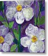 Flowers In Moonlight Metal Print