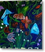 Flowers In The Garden Metal Print by Pretchill Smith