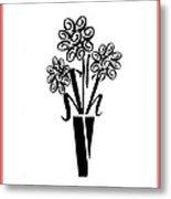 Flowers In Type Metal Print