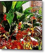 Flowers On Porch - 2 Metal Print