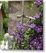 Flowers On The Garden Wall Metal Print