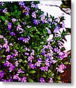 Flowers On The Hill Metal Print