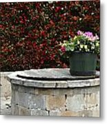Flowers On The Well Metal Print