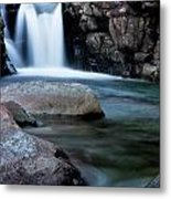 Flowing Falls Metal Print by Justin Albrecht