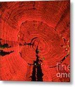 Fluorescent Coral In Uv Light Metal Print