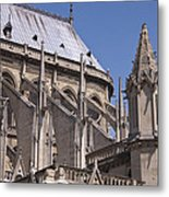 Flying Buttress At Nortre Dame Cathedral Metal Print