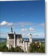 Flying High Over Neuschwanstein Metal Print