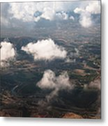 Flying Over Spanish Land Iv Metal Print