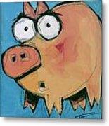 Flying Pig 1 Metal Print