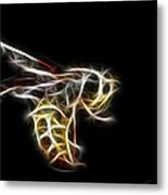 Flying Wasp Metal Print