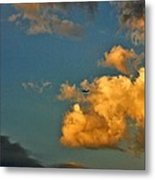 Flying With The Clouds Metal Print