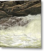 Foamy Cascade Metal Print